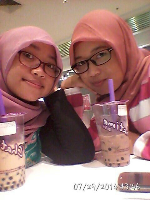 With my lovely sister
