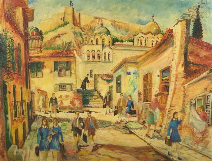 Σαββάκης Γιώργος-Μαθητές στην οδό Επιχάρμου
