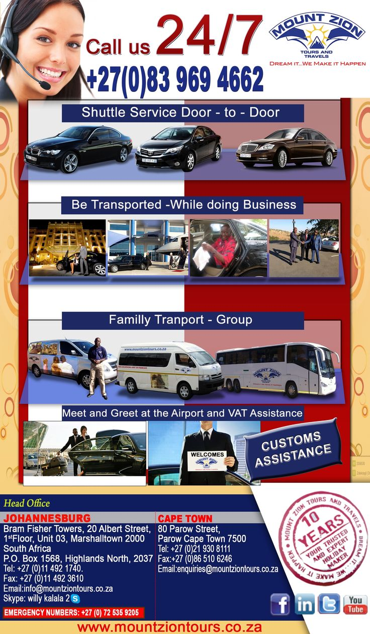 Mount Zion Tours and Travels shuttle services.