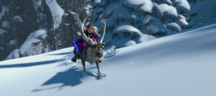 Screencap Gallery for Frozen (2013) (1080p Bluray, Disney Classics). Anna, a fearless optimist, sets off on an epic journey - teaming up with rugged mountain man Kristoff and his loyal reindeer Sven - to find her sister Elsa