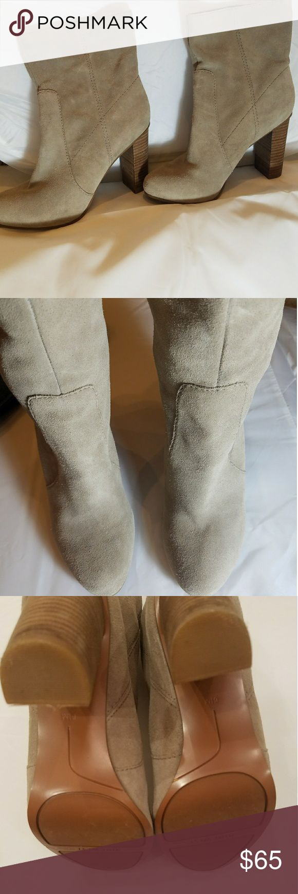"Nine West Suede Boots Ready for Fall in these Nine West stylish and versatile boots! Wear with your favorite jeans or dress them up with tights and a mini skirt! Genuine leather upper and designer style topstiched.  Approx. 3.5"" heels and 9"" total in shaft height (includes heel).  Seldom worn and in great condition. Nine West Shoes Heeled Boots"