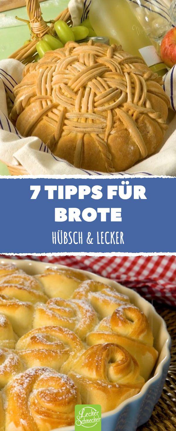 7 tips for breads. Pretty & tasty. Baking bread: These 7 recipes show what you can …   – Was koche ich heute Mittag? Rezepte für Abendessen, Mittagessen, Hauptmahlzeiten