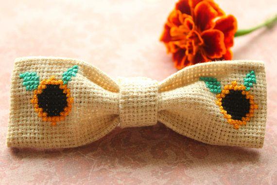 Sunflower Baby Bow Headband Fall Bow Headband Baby