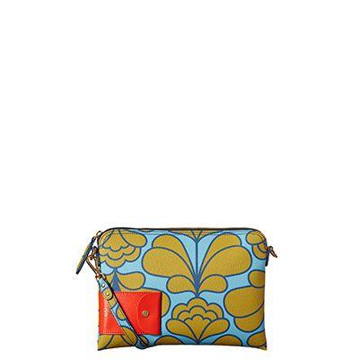 Orla Kiely   UK   Bags   SALE - Bags   Damask Flower Textured Vinyl Large Poppy Bag (16SBDFL200)   Sky
