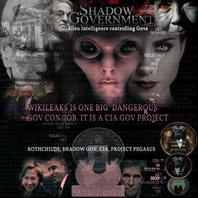 Fifty Shades of Abuse: ANONYMOUS : Wikileaks CIA Deep State Gov Conjob - Alien Intelligence controlling Government