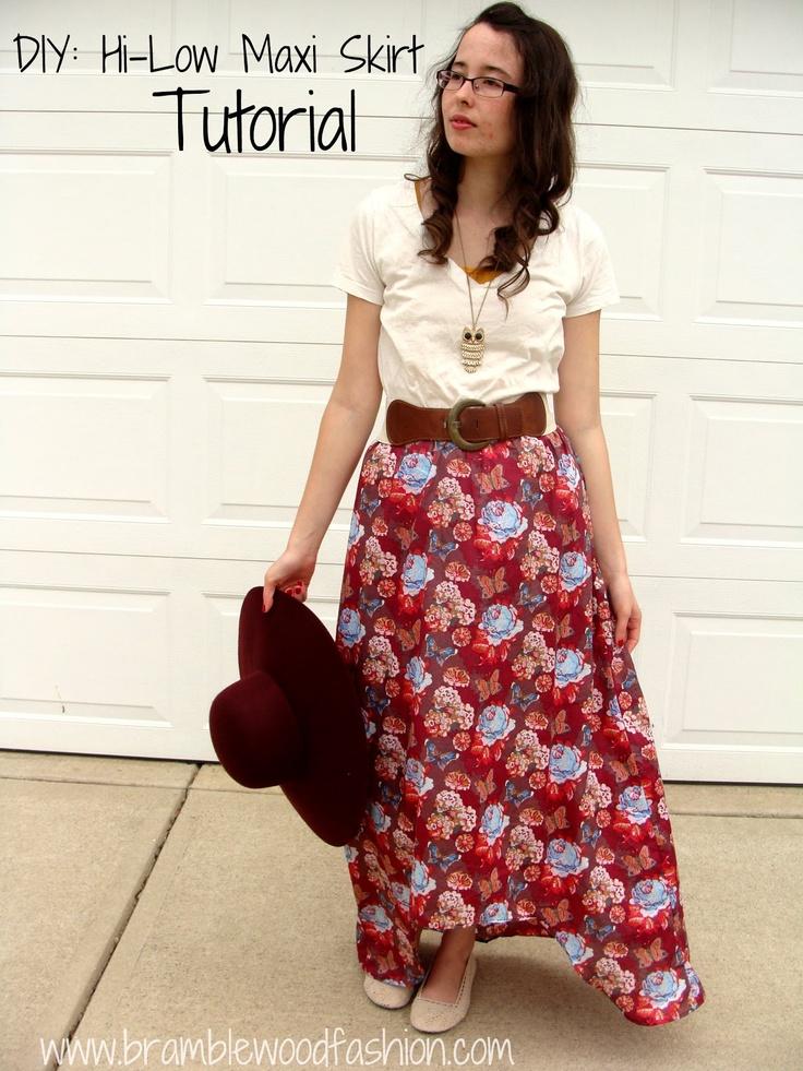 Bramblewood Fashion ❘ Modest Fashion Blog: DIY: Hi-Low Maxi Skirt