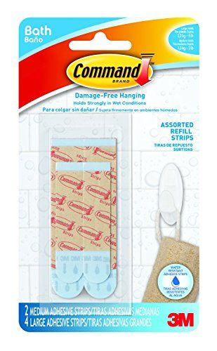Command BATH22-ES-E 2 Medium and 4 Large Strips Assorted Water Resistant Refill Strips * CHECK OUT @ http://www.laminatepanel.com/store/command-bath22-es-e-2-medium-and-4-large-strips-assorted-water-resistant-refill-strips/?a=5157