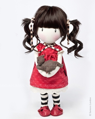 Gorjuss Cloth Doll - Ruby