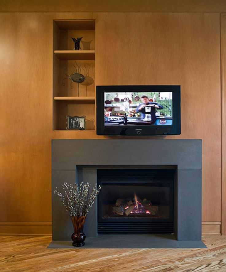 Fireplace Designs | Contemporary Gas Fireplace Designs With Fascinating Decorations  Ideas .
