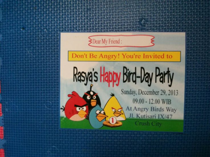 Angry birds invitation
