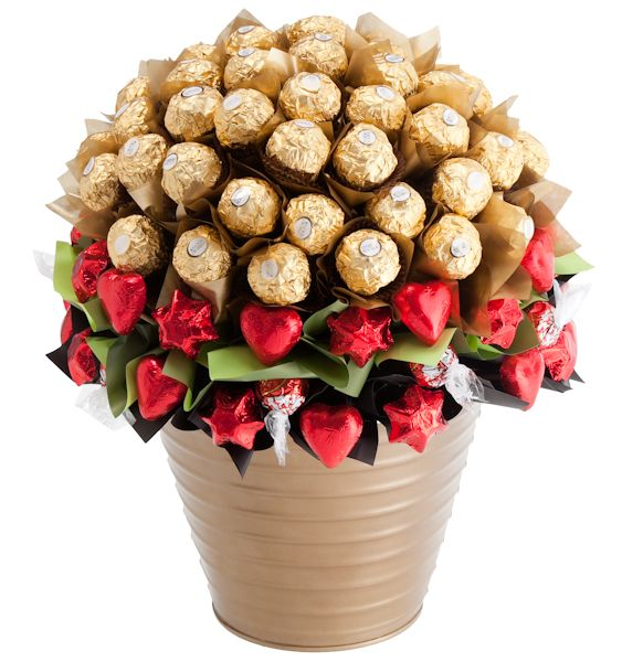 All of our #chocolatebouquets have undergone a massive makeover, with new keepsake pails and a bunch of new chocolate flowers to boot. Our indulgent Luxury Chocolate Bouquet featured here retails for $169.00