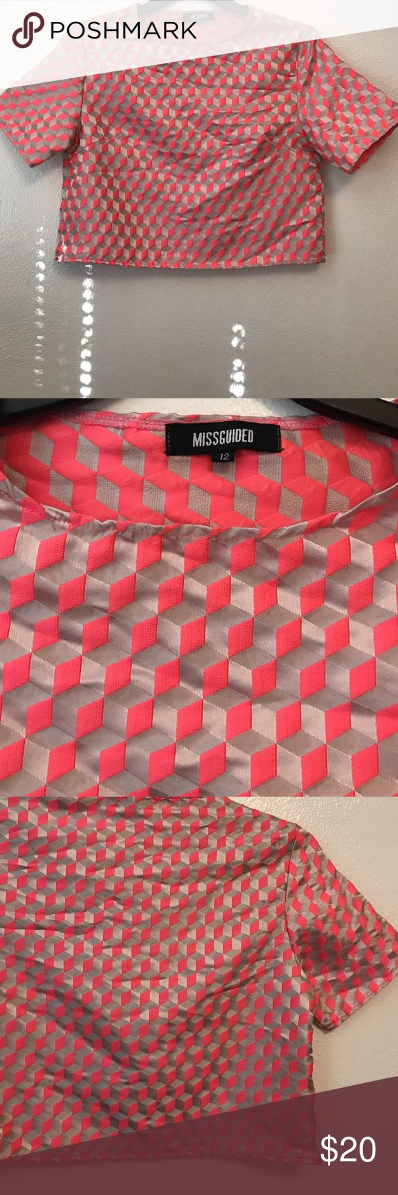 MissGuided Top MissGuided | Top | Pink Pattern | 12 | Missguided Tops Tees - Short Sleeve