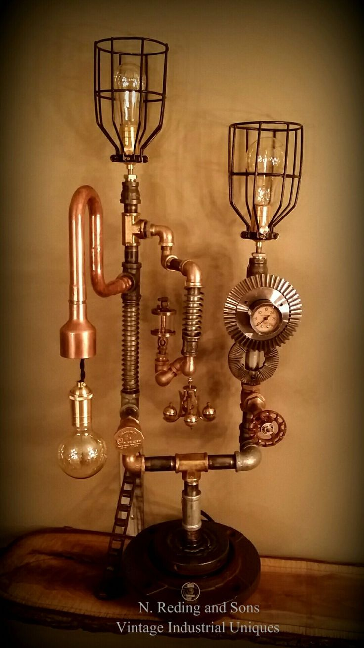 Steampunk lamp vintage Industrial   Uniques Holly Michigan