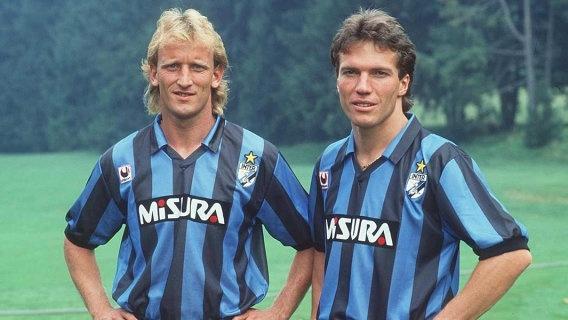 Idola aku jaman baheula >> Andreas Brehme & Lothar Mätthäus (berseragam Inter Milan)