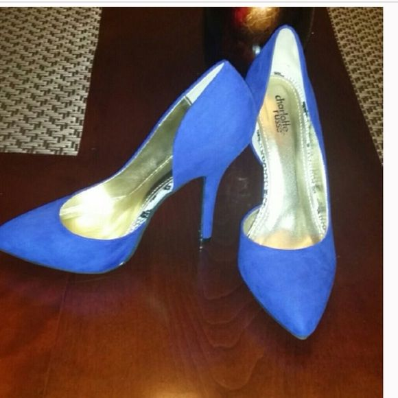 Charlotte Russe Royal Blue Suede Pumps  Size 9 the shoes are brand NEW I don't have the box but they are a must have for upcoming Spring and Summer  Charlotte Russe Shoes Heels