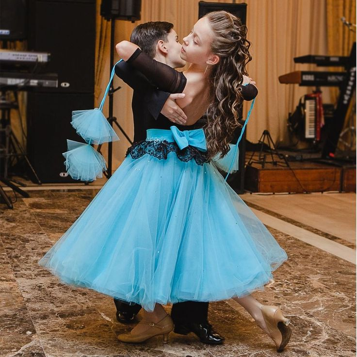 """Fairy turquoise Junior ballroom dress #dancesport #dancesportdress #ballroomdancing #ballroom #fairydress #juniors #turquoisedress"""