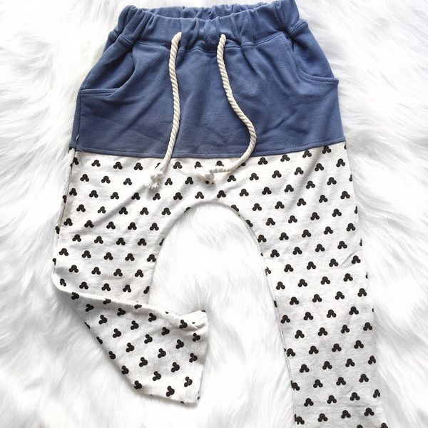 Mickey Blue Harem Pants | Unisex Kids - enjoyessential