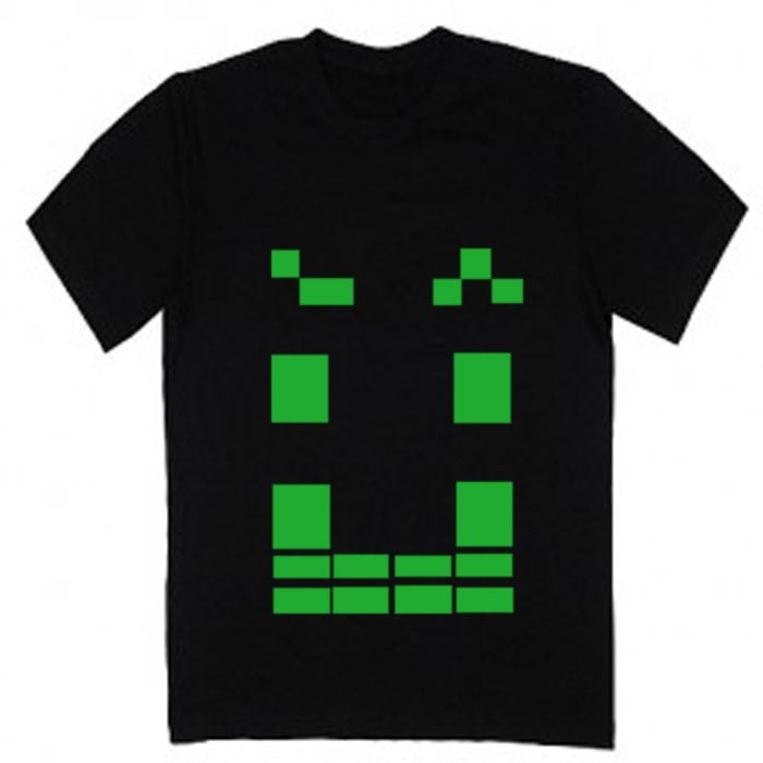 """Man t- shirt, cool man shirt with """" Pixel """" illutsration. Hand painted in Tooba Posters manufacture. Really awesome shirt ! :) #shirt #man #cool #good #black #white #t-shirt #cloth"""