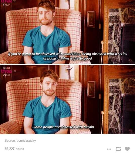 wise words from Daniel Radcliffe