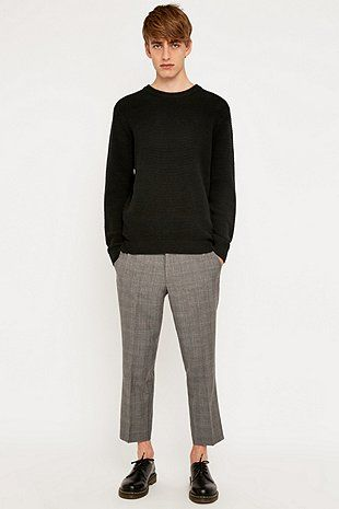 Farah Prince of Wales Wool Check Tailored Trousers