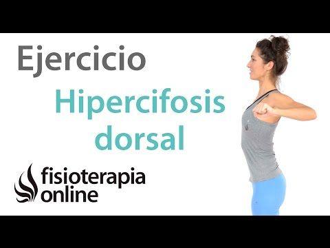 Ejercicio de corrección de la hipercifosis dorsal y apertura del torax. | Fisioterapia Online