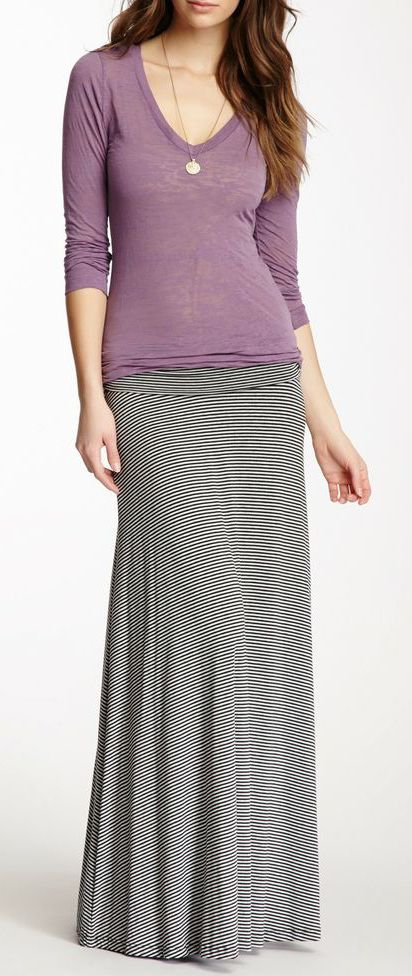 Striped Maxi Skirt Perfect For Keeping Legs Warm This Winter