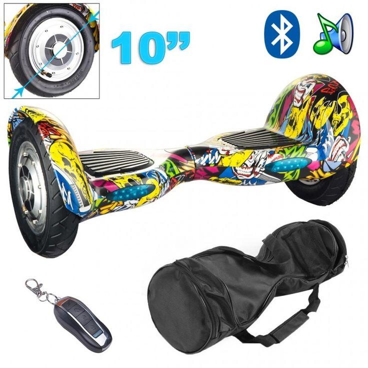 Arpentez les rues de votre ville d'une nouvelle manière avec cet hoverboard 10 pouces. Vous pourrez vous déplacer sur ce skate électrique à une vitesse de 15 km/h ! Egalement livré avec un sac de transport, cet hoverboard vous suivra partout ! Autonomie : 20 - 30 km. Couleur : Jaune. Motif : Comics