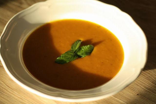 U nás na kopečku: ....dýňová polévka z kopečku...