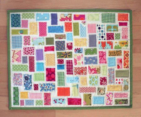 I soo want to make this quilt with stained baby clothes, receiving blankets and scraps of clothes from lost loved ones. What a keepsake :)