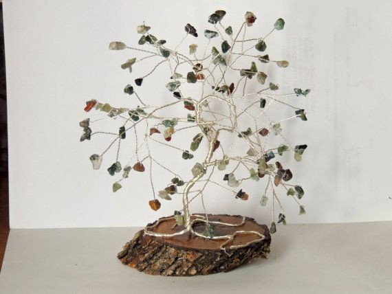 Check out this item in my Etsy shop https://www.etsy.com/listing/235351010/indian-agate-gemstone-wire-tree-bonsai