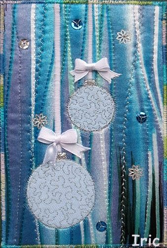 Quilted fabric cards- wow must be someone very special!                                                                                                                                                                                 More