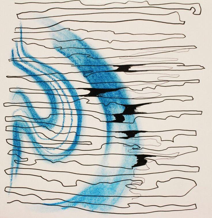 자동차 와이퍼:: 추상성,선적인 표현,반복적인 움직임/ 비오는 날 창문을 닦는 모습입니다.