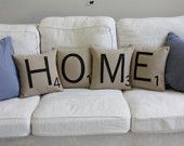 love these scrabble tile pillows by shopdirtsa on etsy!