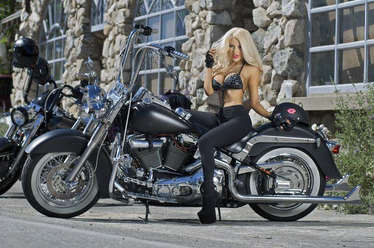 Harley-Davidson Girls | Courtney Stodden Is Stunning-Hot Riding a Harley Davidson