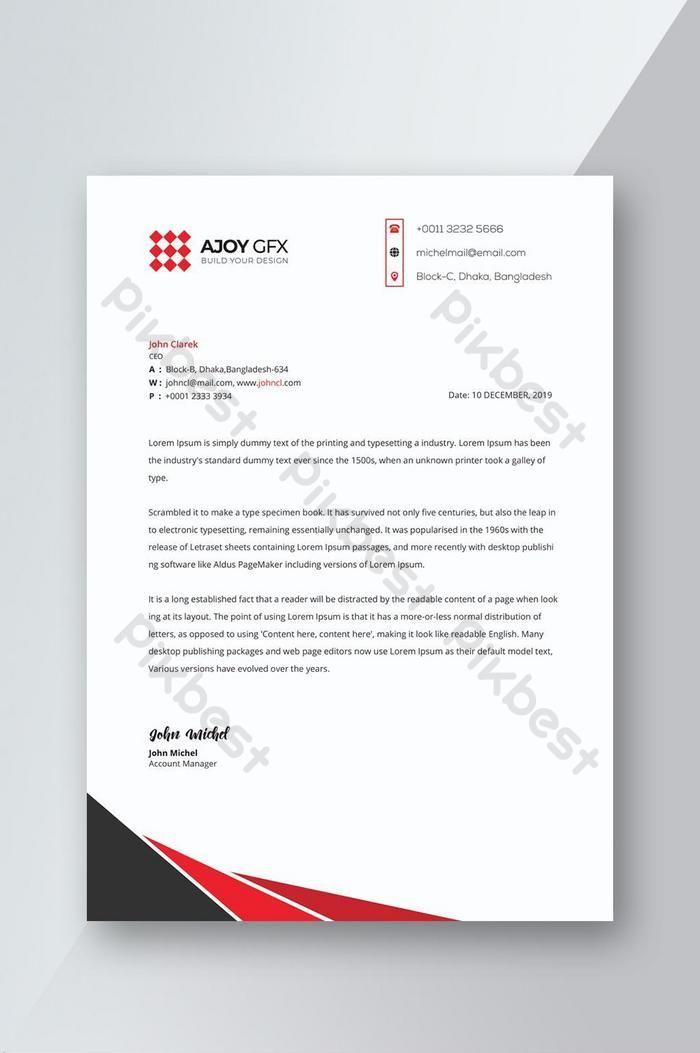 Reka Bentuk Kop Surat Syarikat Korporat Psd Percuma Muat Turun Pikbest Letterhead Design Company Letterhead Letterhead