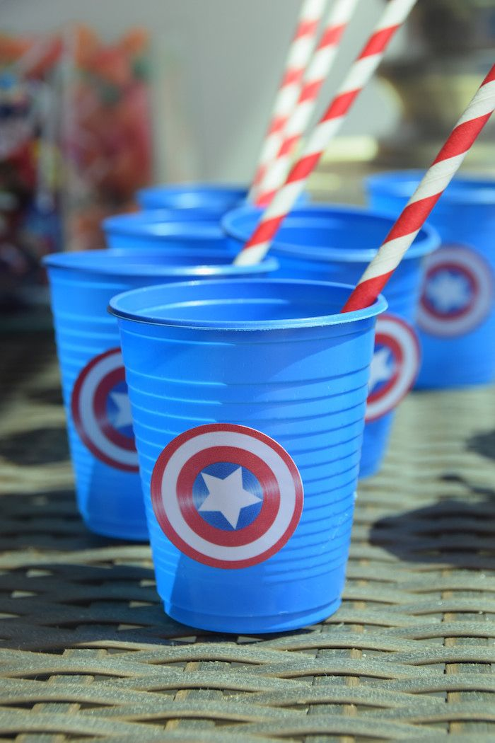 Avengers themed birthday party via Kara's Party Ideas KarasPartyIdeas.com Printables, cake, supplies, cupcakes, banners, and more! #theavengers #avenegersparty #avengerscake #avengerspartyideas (9)