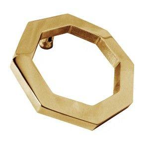 Polished Brass Octagonal Door Knocker - Brass Door Knockers - Door Knockers - Door Furniture - Home & Interiors - Catalogue | Black Country Metal Works