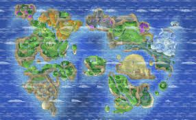 World Map from Dragon Quest - Variety in the map to keep interest in exploration high