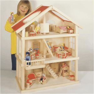 Toyday Traditional & Classic Toys Large Wooden Dolls House  A simple three storey wooden dolls house with easy access. It has features such as wooden stairs and a balcony. 65 cm x 35 cm x 87 cm (furniture not included)  http://www.comparestoreprices.co.uk/wooden-toys/toyday-traditional-&-classic-toys-large-wooden-dolls-house.asp  #dollshouse #classicdollshouse #classicwoodendollshouse #woodendollshouse