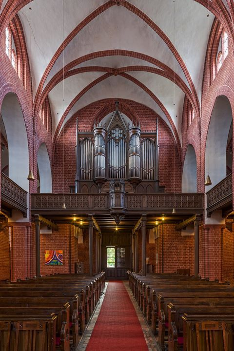 picture of the day Organ of the church of Mary Magdalene in Eberswalde Brandenburg Germany.
