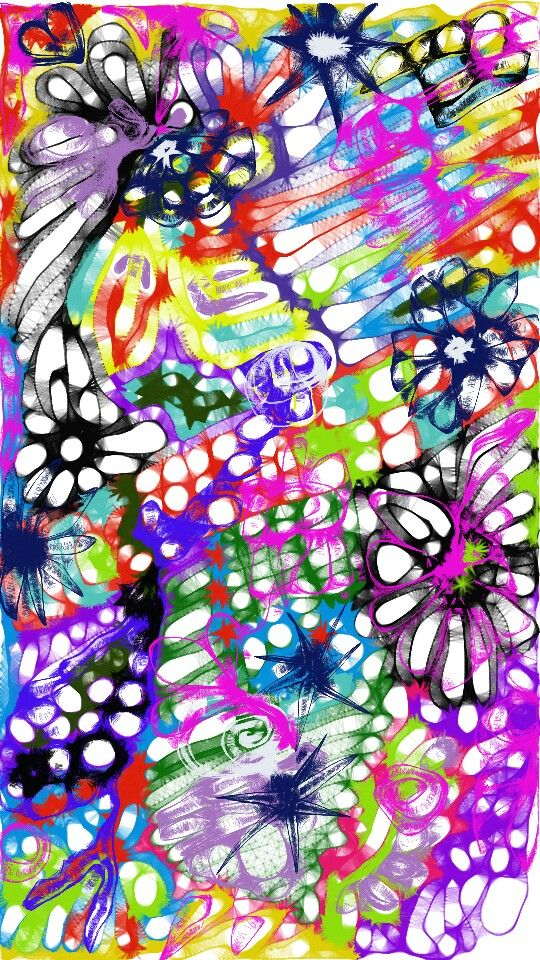#art #Abstract #Colourfull #expression #artoftheday #feelings #doodle #rainbow #smile #happiness