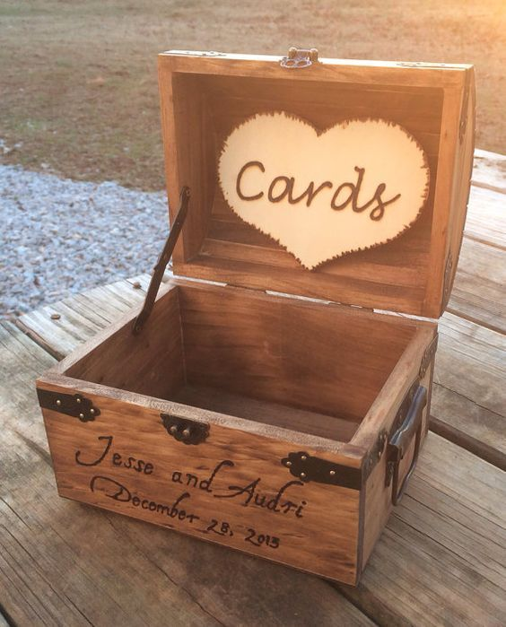 Shabby Chic and Rustic Wooden Card Box - Rustic Wedding Card Box - Rustic Wedding Decor - Advice Box - Piggy Bank on Etsy, $46.00