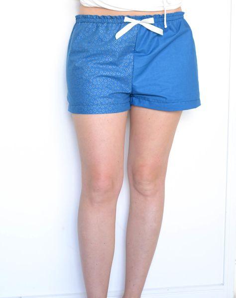 Pyjama shorts. Sewing, bernina, pattern, fabric.  Find the sewing review here: https://www.ohiadore.com/create/2017/3/26/pyjama-shorts