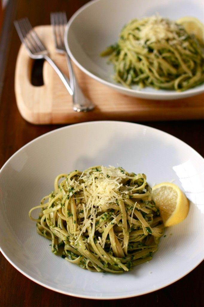 Baby spinach and walnut pesto   WanderingSpice.com