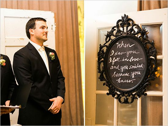 wedding chalkboards - when I saw you I fell in love & you smiled because you knew ..
