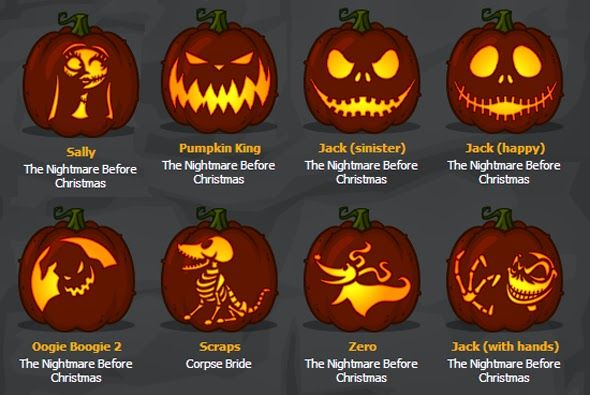 Nightmare Before Christmas Pumpkins. | JenaFluff, Pumpkin painting. The nightmare before christmas scene by Courtney ..., Nightmare Before C...
