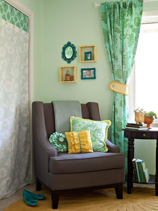 Accessorize with Tiebacks-Accessorize with Tiebacks  Give drapery panels a makeover with tiebacks for an simple update. An easy-to-make tieback adds a final polish to this window treatment, and also adds a splash of the room¿s yellow accent color to the window  Learn more about this project.