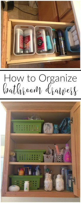 how to organize your bathroom cabinets and drawers