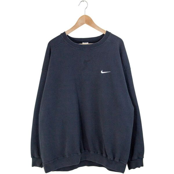 BLACK NIKE SWEATSHIRT nike pullover nike jumper oversize big nike... ($24) ❤ liked on Polyvore featuring tops, hoodies, sweatshirts, oversized sweatshirts, sweater pullover, crewneck sweatshirt, nike top and crew neck sweatshirts