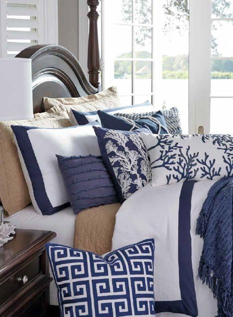 Pile on pillows for a comfy and cozy bed!